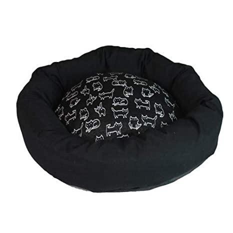 Диван для животного NELSON, круглый, черный, 50см