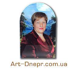 Портрет на стекле на памятник. 400х600мм.