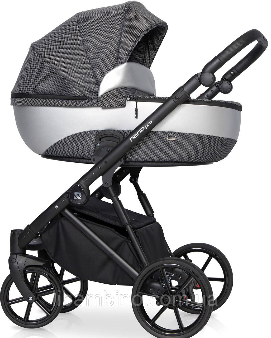 Дитяча універсальна коляска 2 в 1 Riko Nano Pro 02 Onyx