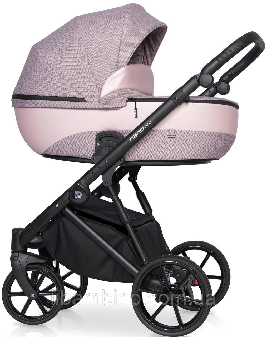 Дитяча універсальна коляска 2 в 1 Riko Nano Pro 03 Pearl Pink
