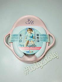 Накладка на унитаз мягка Tega Тега Кролики, pink