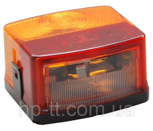 Трехкамерный фонарь прицепа левый Hella с подсветкой номера 60045