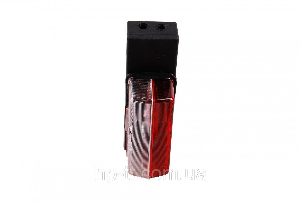 Контурно-габаритный фонарь красно-белый на пластиковом кронштейне Jokon 10087