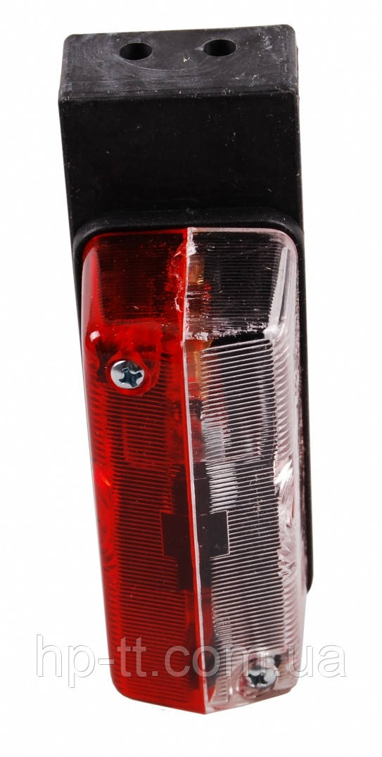Контурно-габаритный боковой фонарь красно-белый на угловом кронштейне Proplast 10534