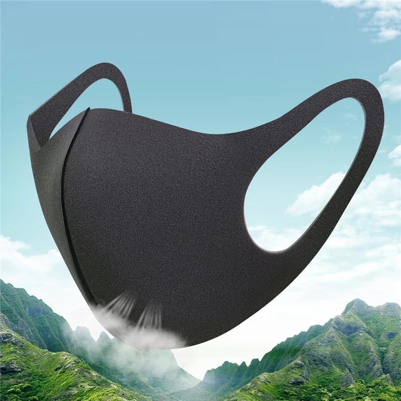 Многоразовая Pitta Mask (питта-маска) для лица защитная модель Бархат  размер стандарт М (Чорний)