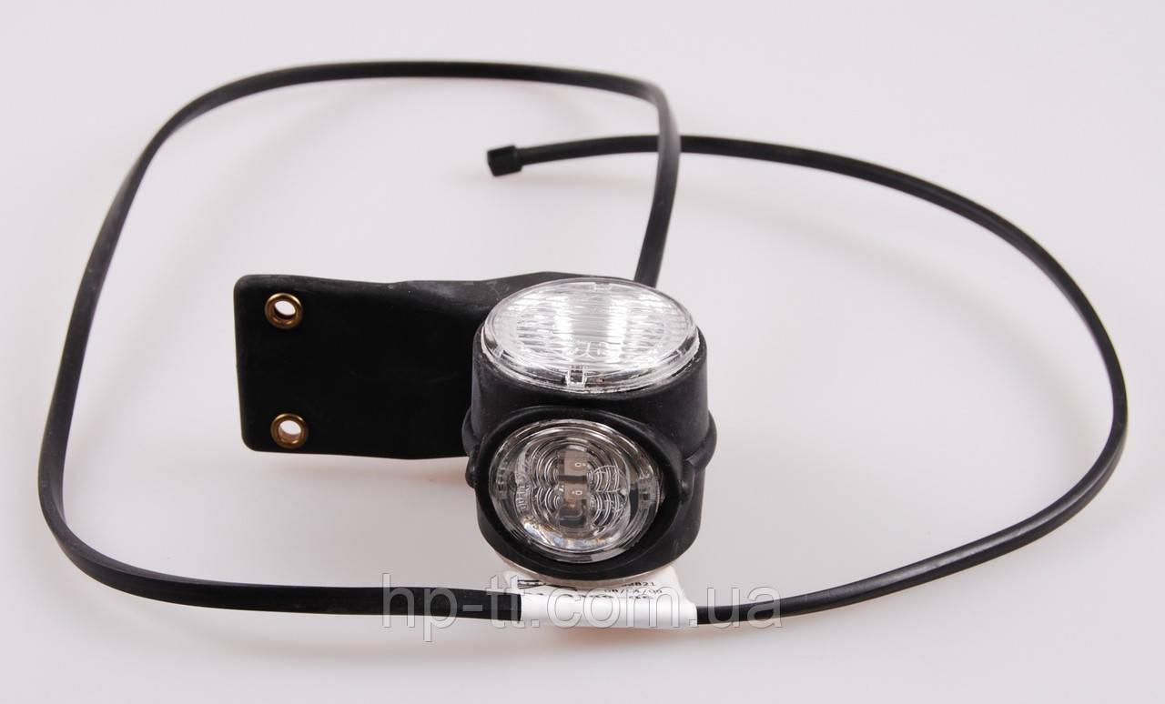 Контурно-габаритный фонарь красно-белый на резиновом кронштейне Aspock Superpoint III Led 10618