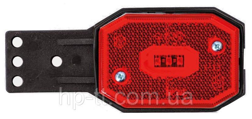 Фонарь габаритный Fristom FT-001 C II LED красный со светоотражателем кронштейном и проводом