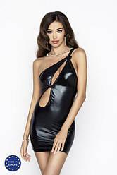 (SALE) Платье под латекс с вырезом CORNELIA DRESS black L/XL - Passion