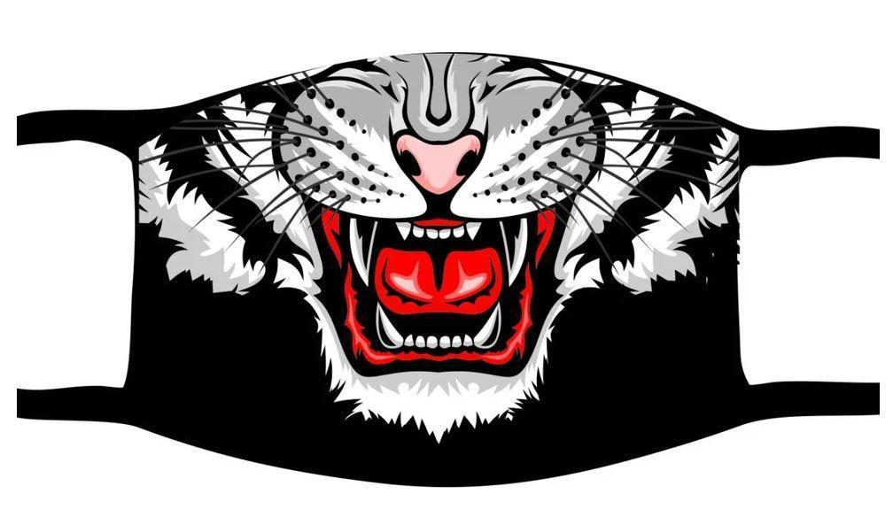 Защитная маска многоразовая с рисунком лицо Тигр с принтом ORIGINAL хлопок (Двухслойная)