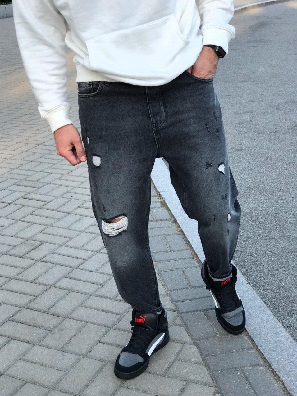 Мужские джинсы МОМ 2Y Premium 5212 antracit