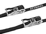 Стяжные ремни усиленной нагрузки Acebikes Ratchet Kit Heavy Duty 180x25 8065, фото 2