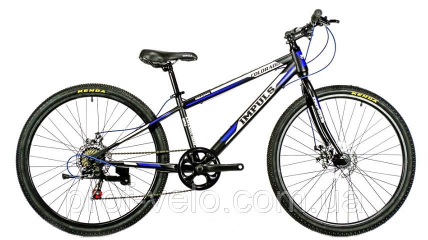 Велосипед спортивный impuls 26 COLORADO ЧЁРНО-СИНИЙ