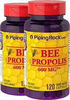 Супердобавка   Piping Rock BEE PROPOLIS 600мг 120 капсул