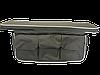Сумка-багажник под сиденье с мягкой накладкой (100 х 20 х 4) серый