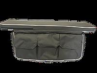 Сумка-багажник под сиденье с мягкой накладкой (100 х 20 х 4) серый, фото 1