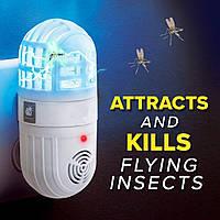 Лампа от насекомых и грызунов Atomic Zabber 2в1 от сети, пластик, отпугиватели насекомых, уничтожители насекомых