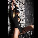 """Эротический костюм полицейской """"Строптивая Паулина"""" XS/S, комбинезон, кепка, подвязка, фото 3"""