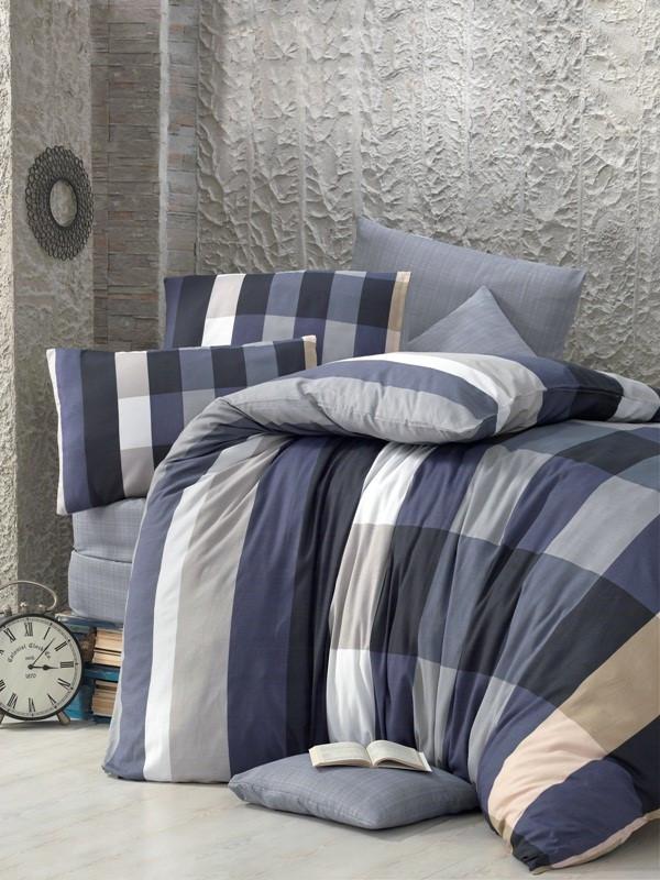Двуспальный комплект постельного белья Бязь голд  CIGDEM 200*220 см. (34496_2,0