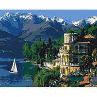 Вдохновляющая Италия. Картина по номерам на холсте - 40х50. С подрамником. Идейка
