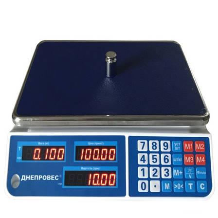 Весы торговые Днепровес ВТД-ЕЛ1 (6 кг), фото 2