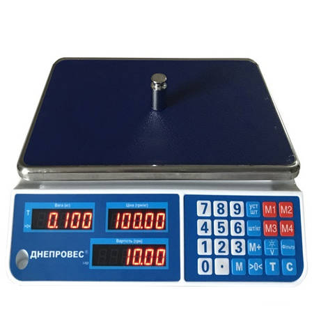 Весы торговые Днепровес F902H-15EL1 (15 кг), фото 2