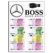 Мерседес с евро вафельная картинка