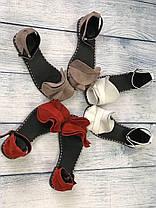 Замшевые босоножки 1 см каблук, кожа или замша пошив с рюшечкой размеры 36-41, фото 3