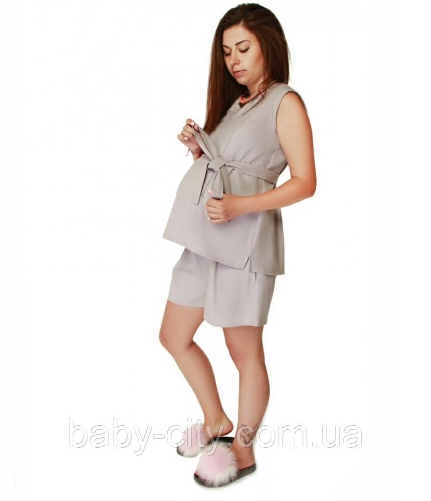 Летний костюм для беременных и кормления грудью. С-М