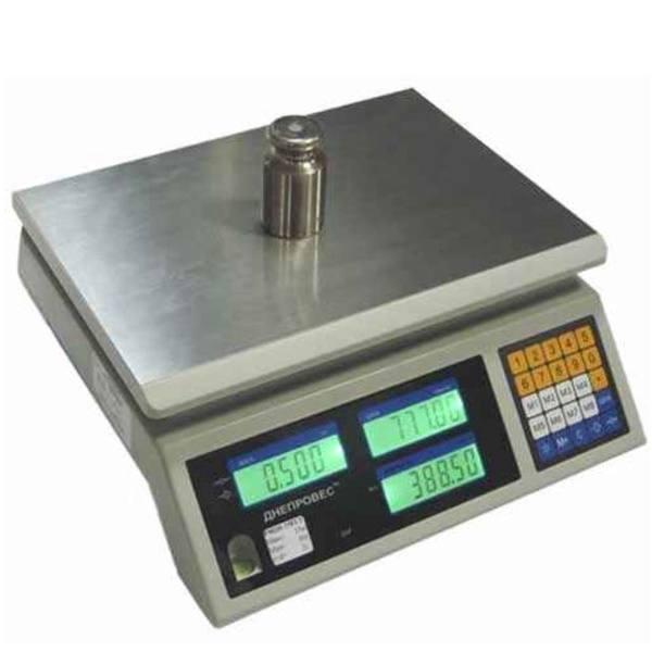 Весы торговые Днепровес ВТД-ЕЦ1 (3 кг)