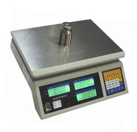 Весы торговые Днепровес ВТД-ЕЦ1 (15 кг), фото 2