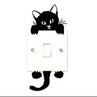 Наклейка на выключатель Котик