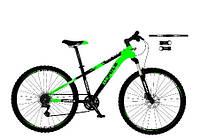 Велосипед спортивный impuls 26 MOTION 2020 чёрный с салатовым