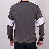 Світшот чоловічий з написом Jordan сірого кольору, фото 3