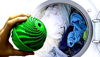 Мячик для стирки без порошка Clean Ballz Wash Ball размер 9х8см, до 5кг на 1000 стирок, шарики для стирки