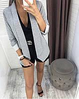 Женская накидка с имитацией под пиджак, фото 1