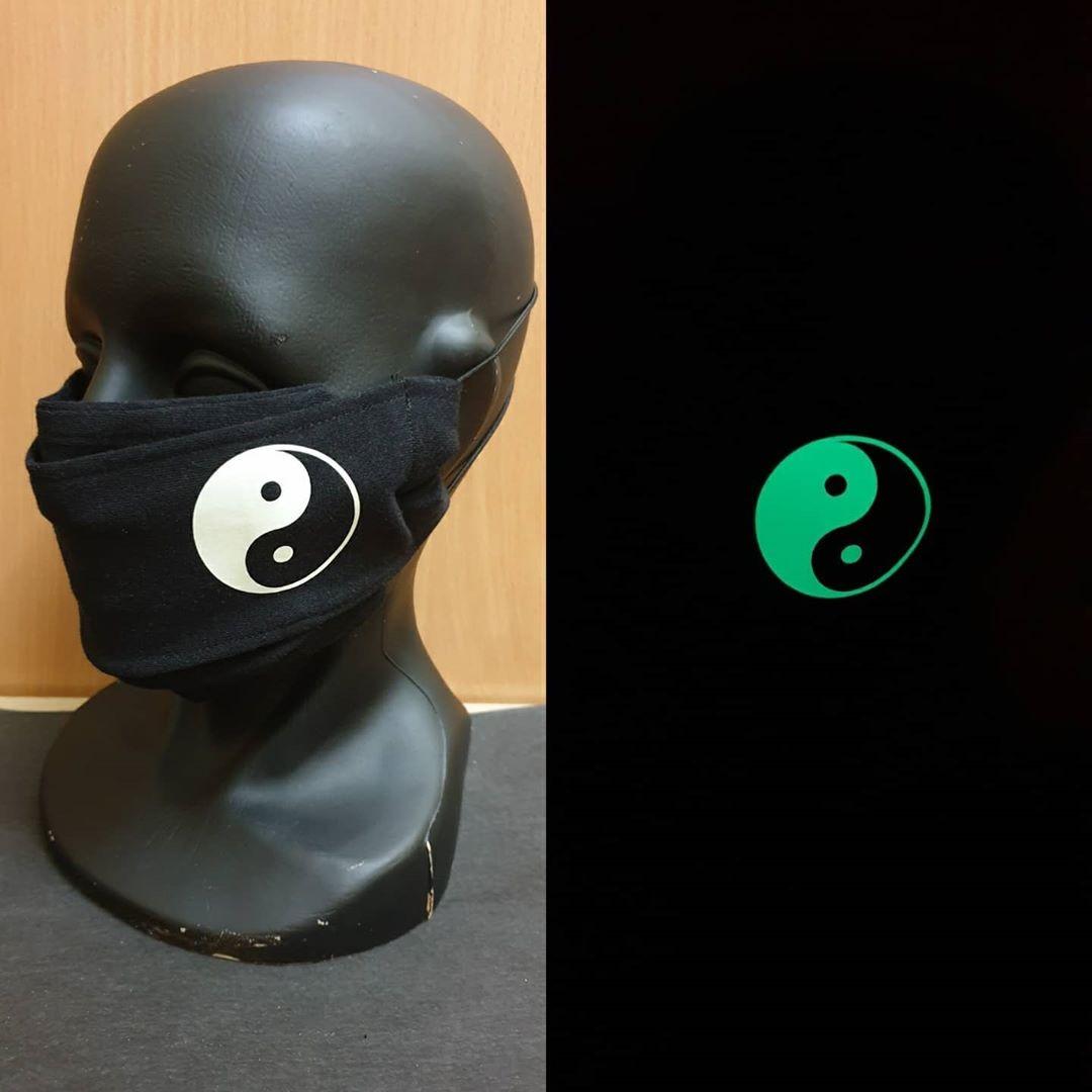 """Защитная маска для лица многоразовая """"Масочки-Светяшечки"""" 100% Х/Б Инь-Янь"""