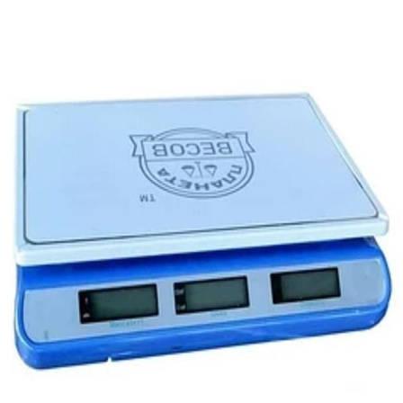 Весы торговые настольные Планета Весов ПВП-810 синие (40 кг), фото 2