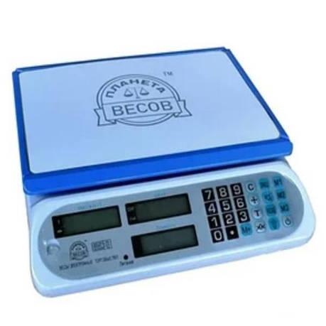 Весы торговые электронные ПВП-810 белые (40 кг), фото 2