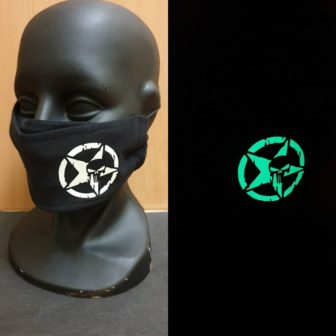 "Защитная маска для лица многоразовая ""Масочки-Светяшечки"" 100% Х/Б"