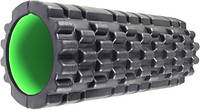 Роллер масажный Fitness Foam Roller PS-4050 Black-Green SKL24-190148