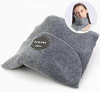 Дорожная ортопедическая подушка для путешествий Travel Pillow - Красная, с доставкой по Украине |