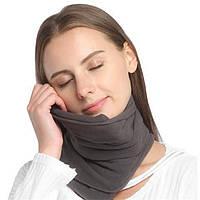 Подушка шарф для путешествий Travel Pillow в дорогу и для сна, ортопедическая
