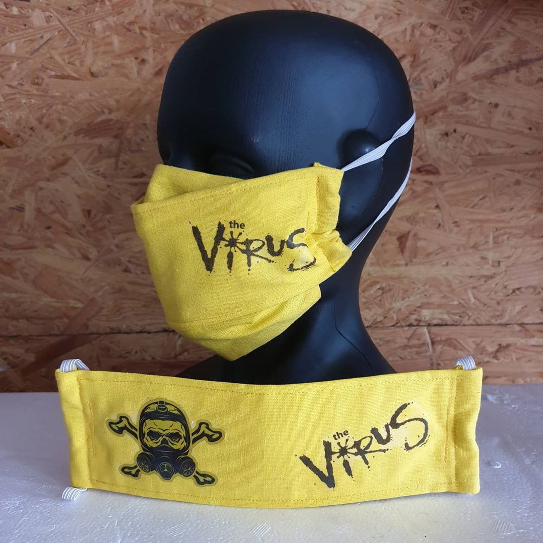 Защитная маска для лица многоразовая #стопвирус 100% Х/Б