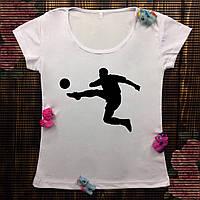 Женская футболка  с принтом - Футбол