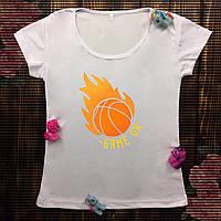 Женская футболка  с принтом - Баскетбол