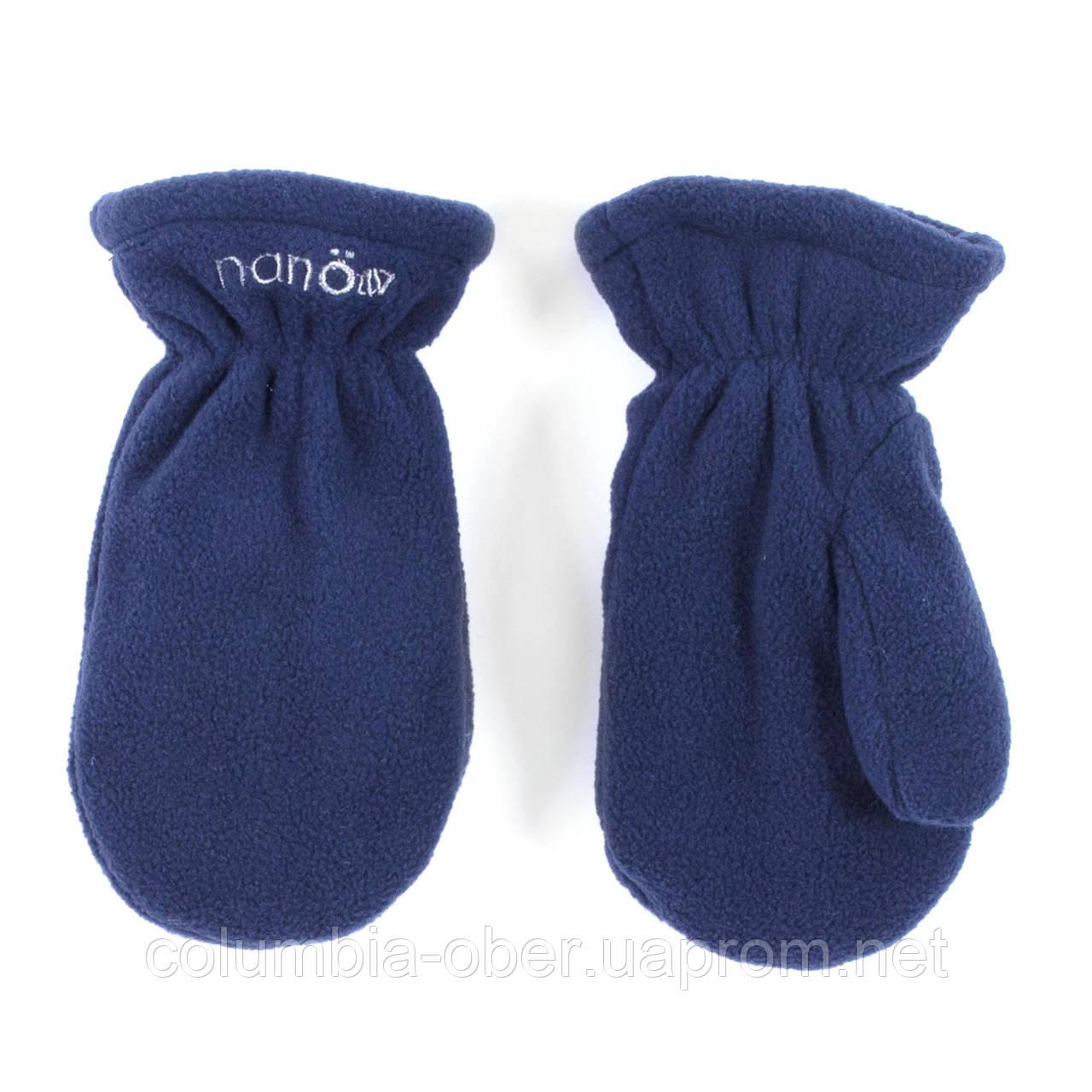 Зимние флисовые рукавицы для мальчика Nano BMITP501-F19 Mid Marine. Размеры 12/24 мес - 7/8.