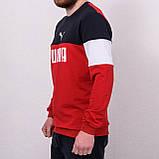 Свитшот мужской с надписью Puma красного цвета, фото 2