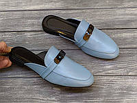 Замшевые сабо мюли 1 см каблук, кожа или замша пошив размеры 36-41