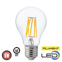 Светодиодная филаментная лампа FILAMENT GLOBE 6W 2700К HOROZ