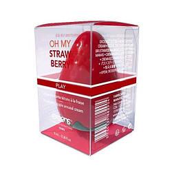 Возбуждающий крем для сосков EXSENS Oh My Strawberry (8 мл) с жожоба и маслом Ши, съедобный